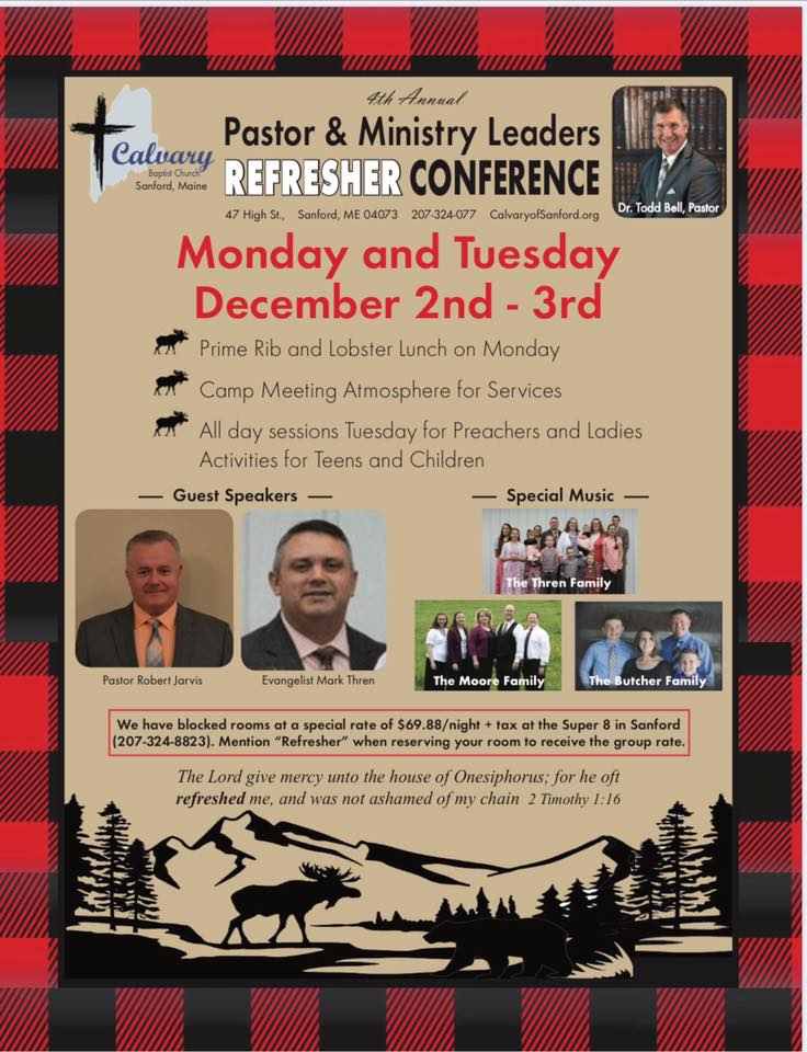 pastor refresher conference